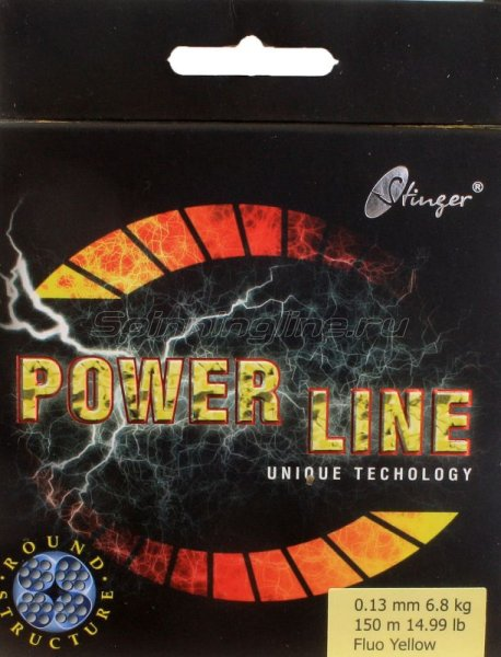 Stinger - Шнур PowerLine Fl.Yellow 150м 0.18мм - фотография 1