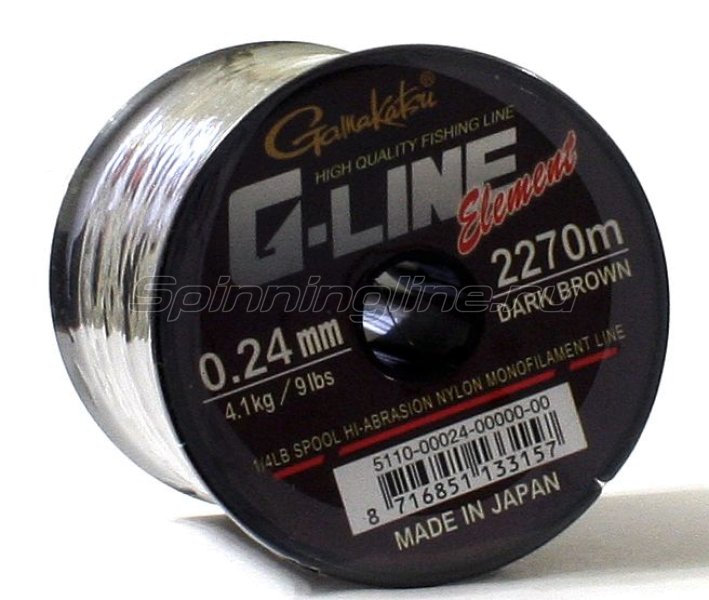 Леска G-Line Element Dark Brown 1490м 0,28мм -  1