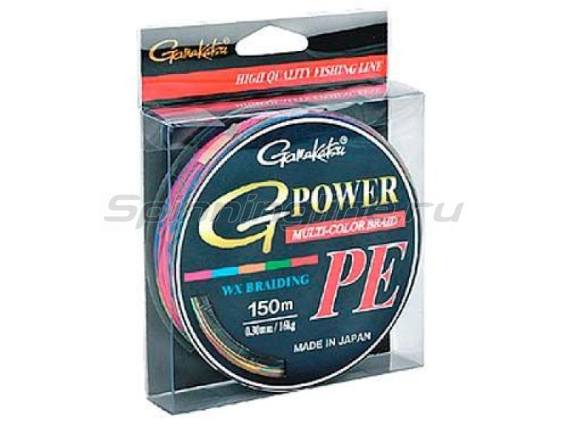 Gamakatsu - Шнур G-Power M-Color PE 150м 0.24мм - фотография 1