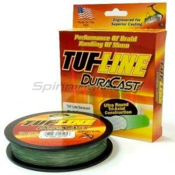Tuf-Line - Шнур Dura Cast green 274м 0,18мм - фотография 1