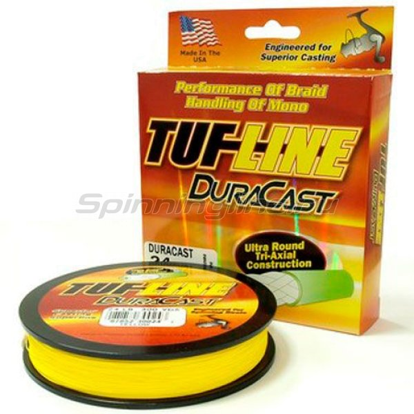 Tuf-Line - Шнур Dura Cast yellow 274м 0,28мм - фотография 1