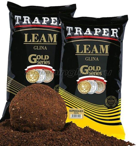Вязкая глина Traper черная 2кг -  1