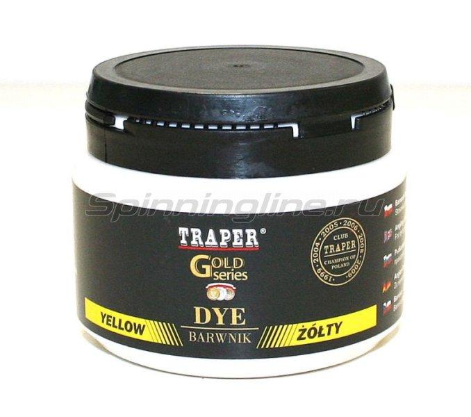 Краска для прикормки Traper желтая 80гр - фотография 1