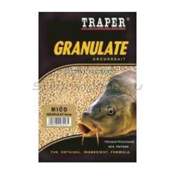 Traper - Прикормка Granulat клубника 6мм/1кг - фотография 1