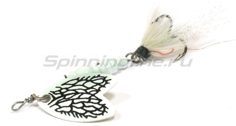 Mepps - Блесна Bug 2 White Miller/White 7гр - фотография 1