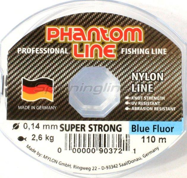 Phantom Line - Леска Strong Blue Fluo 110м 0,18мм - фотография 1