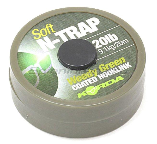 Поводковый материал Korda N Trap Soft 30lb Weedy Green -  1