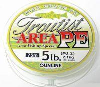 Плетеный шнур Sunline Troutist Area PE