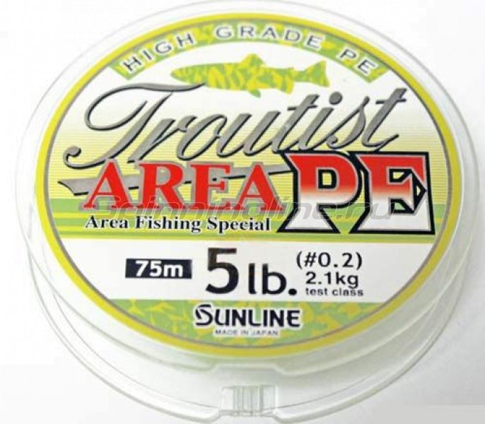 Sunline - Шнур Troutist Area PE 75м 0.3 - фотография 1