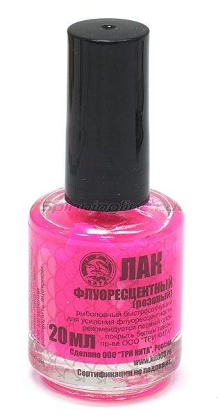 Краска-лак Три Кита розовый флюо -  1