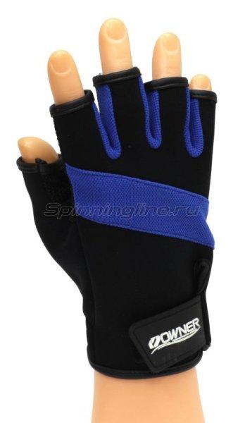 Owner - Перчатки без пальцев L черно-синий - фотография 1