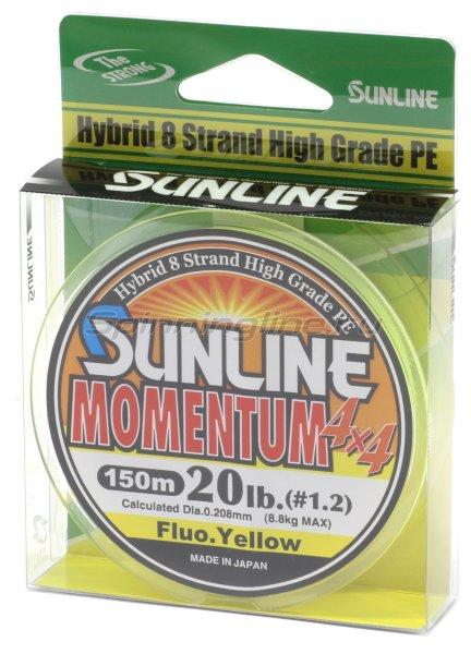 Sunline - Шнур Momentum 150м 0.8 fluo yellow - фотография 1