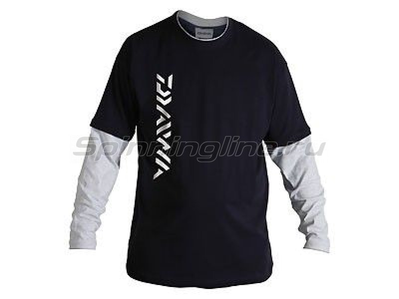 Daiwa - Толстовка Long Sleeve Black-Grey XXL - фотография 1