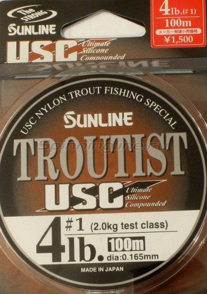 Леска Troutist USC 100м 0,165мм -  1