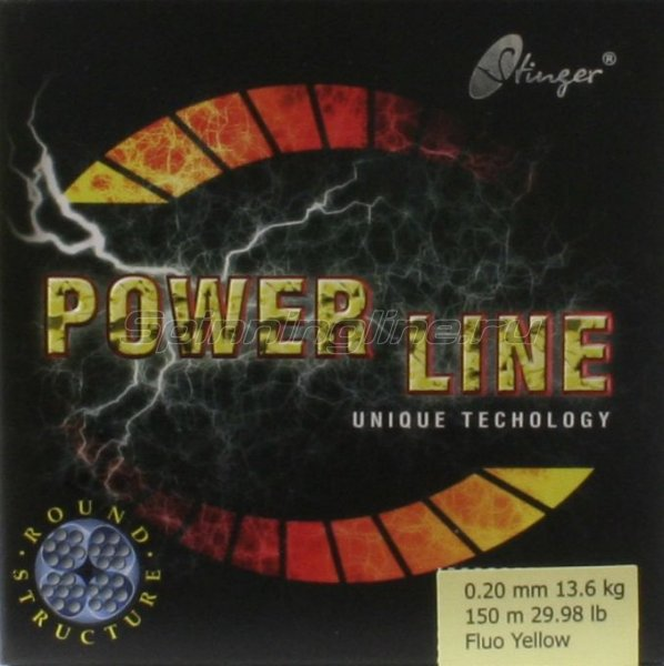 Stinger - Шнур PowerLine Fl.Yellow 150м 0.20мм - фотография 1