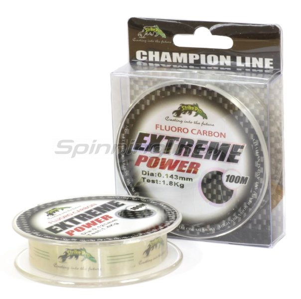 STRIKE PRO - Fluorocarbon Extreme Power 100м 0.143мм - фотография 1