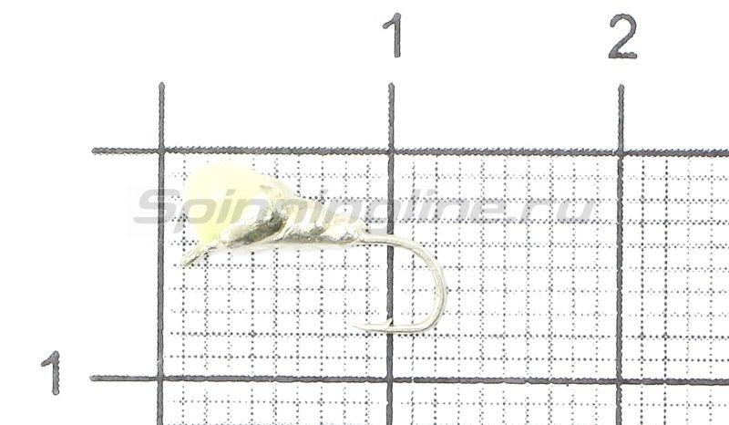 Lumicom - Мормышка Муравей с ушком d3 серебро с фосфорной каплей - фотография 1