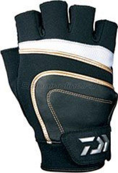 Перчатки Daiwa L бело-черный -  1