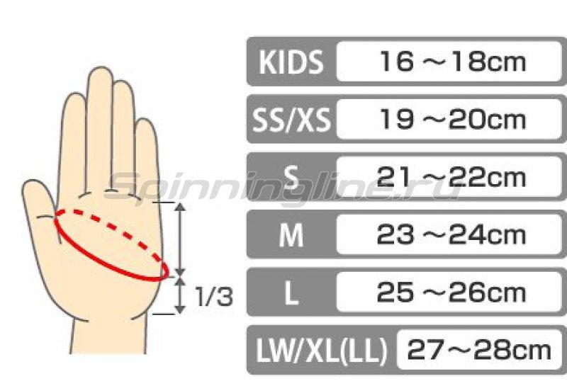 Перчатки Daiwa XL бело-черный - фотография 2