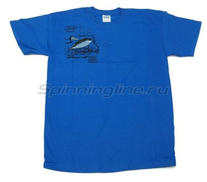 Футболка Lucky Craft T-Shirts Blue XXL - фотография 1
