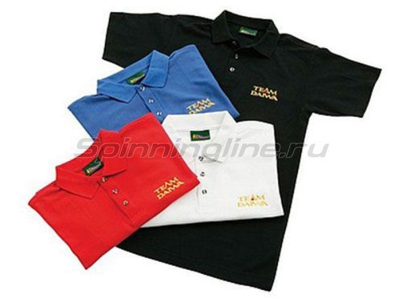 Футболка Team Daiwa Polo Shirts Black M - фотография 1