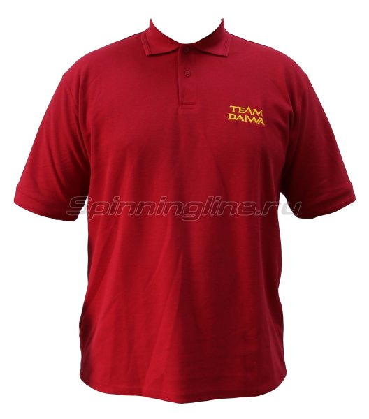 Футболка Team Daiwa Polo Shirts Red L - фотография 1