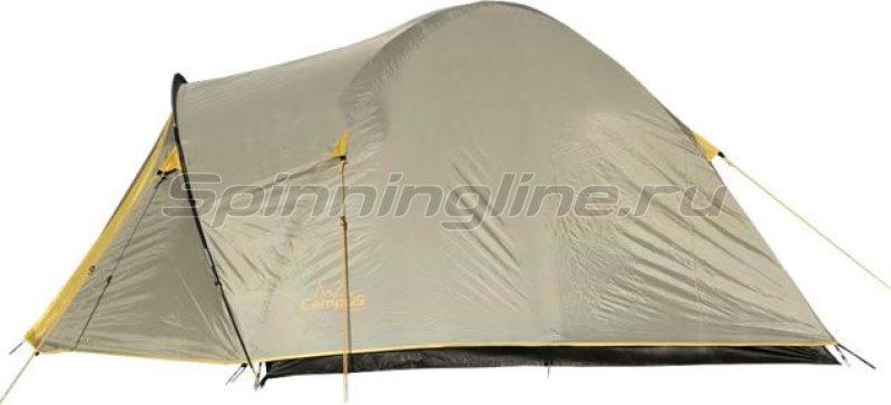 Палатка туристическая Beziers 4 (stone beige 909/ yellow 409) -  1