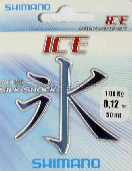 Shimano - Леска Ice Silk shock 50м 0,22мм - фотография 1