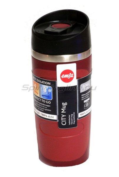 Кружка изотермическая Emsa City Mug 0.36л красный -  1