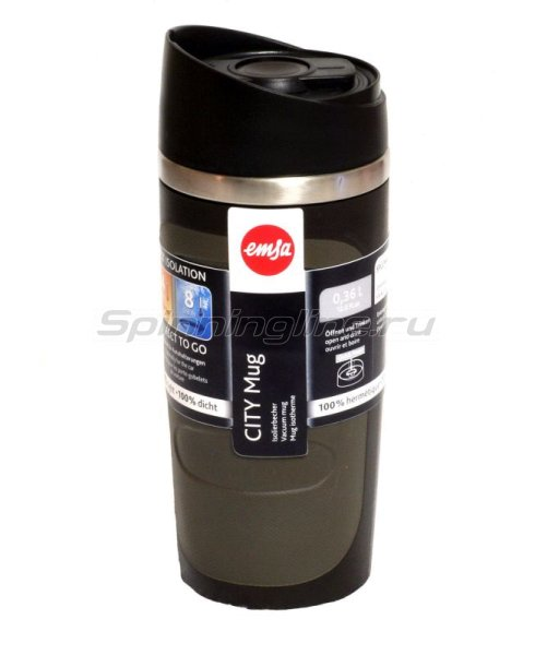 Кружка изотермическая Emsa City Mug 0.36л коричневый -  1