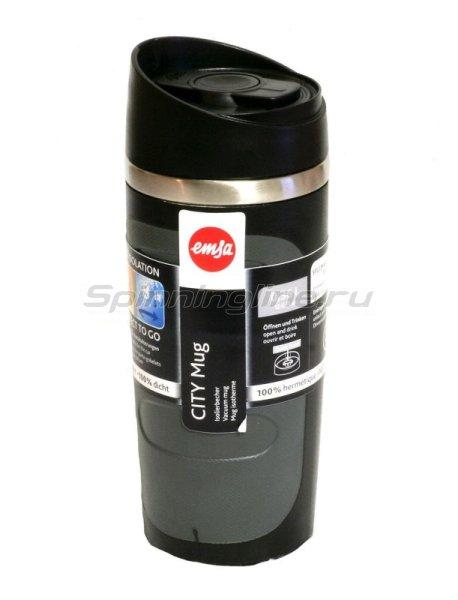 Кружка изотермическая Emsa City Mug 0.36л черный - фотография 1