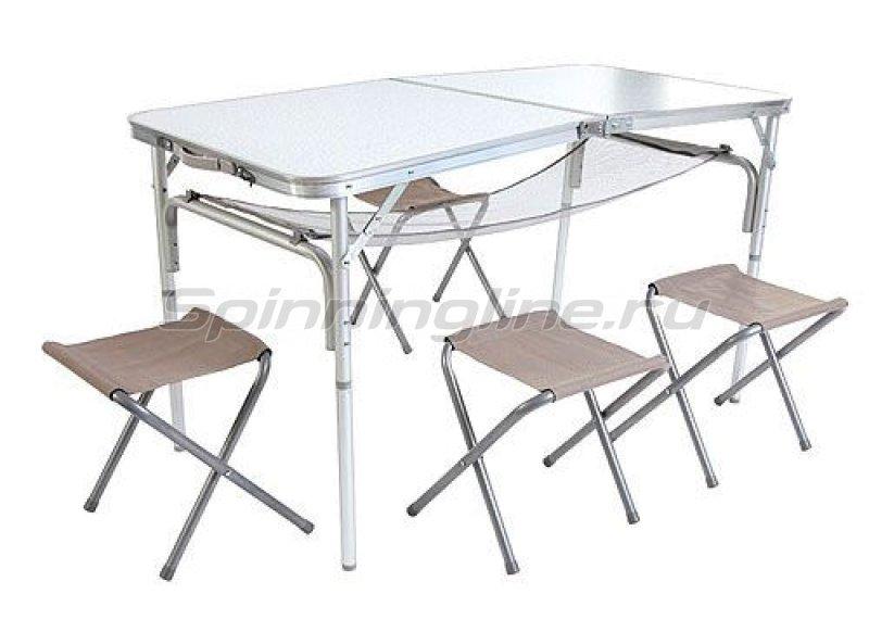 Стол складной Holiday Alu Lakeshore + 4 стула - фотография 1