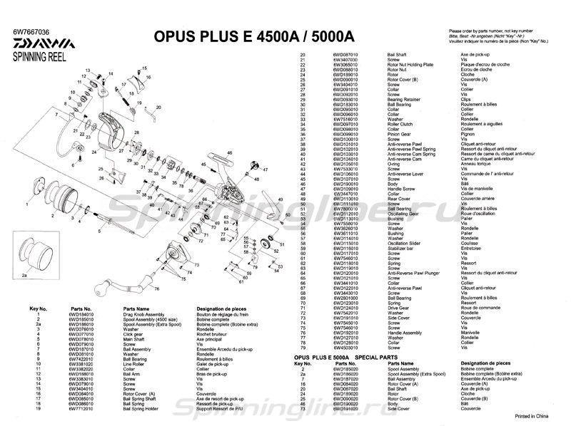Катушка Daiwa Opus plus Е5000А -  9