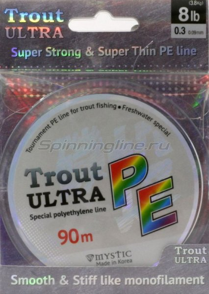 Mystic - Шнур Trout Ultra 90м 0.4 - фотография 1