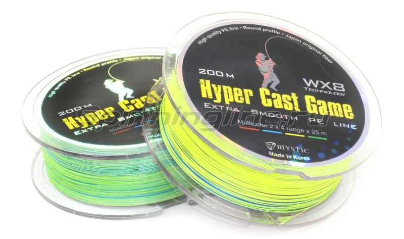 Шнур Hyper Cast Game 200м 0.8 -  2