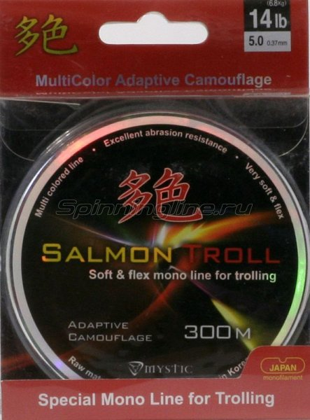 Леска Mystic Salmon Troll 300м 0,43мм -  1