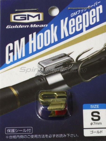 Держатель крючка на удилище Golden Mean Hook Keeper Gold M -  1