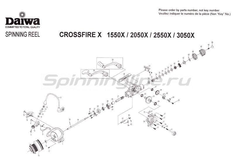 Катушка Crossfire 1550X -  9