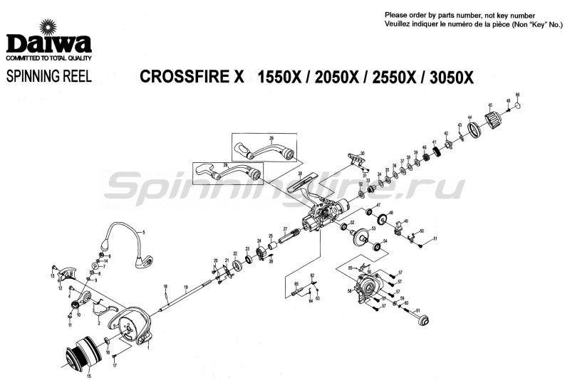 Катушка Crossfire 3050X -  10