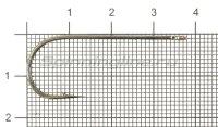 Крючок Saikyo BS-2313BN №1/0
