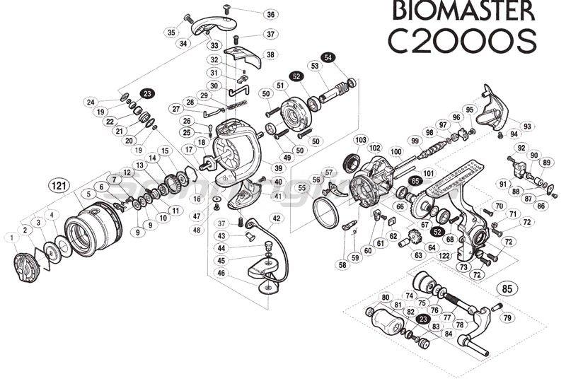 Shimano - Катушка Biomaster C2000S - фотография 2