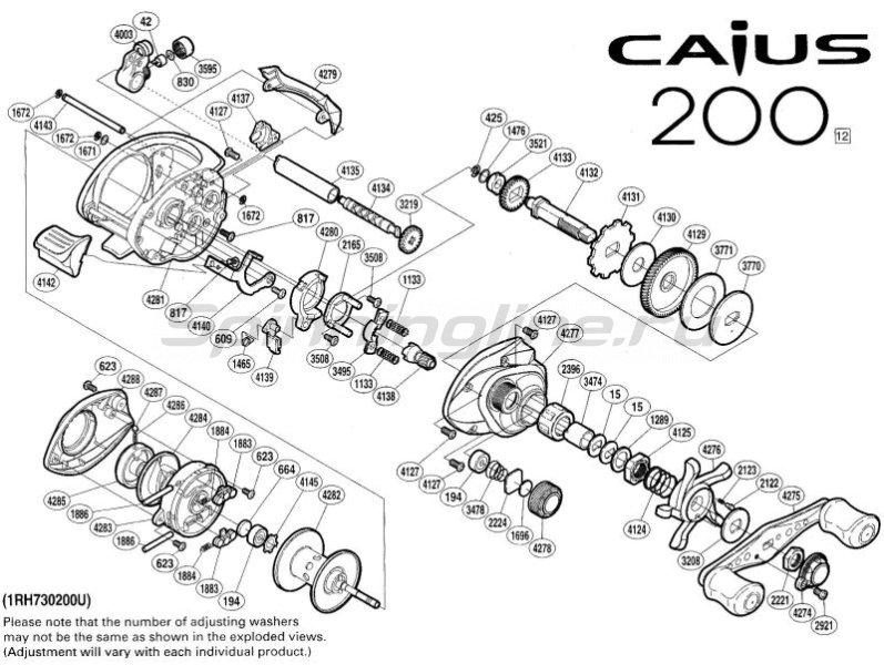 Shimano - Катушка Caius 200 RH - фотография 2