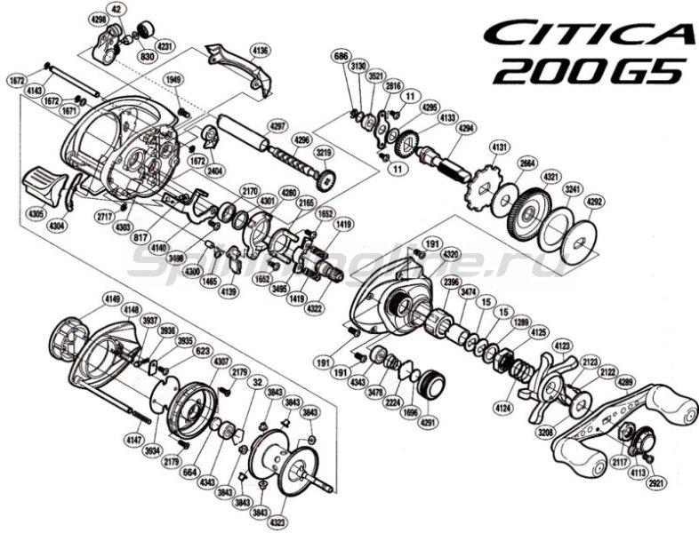 Катушка Citica 200G RH -  6