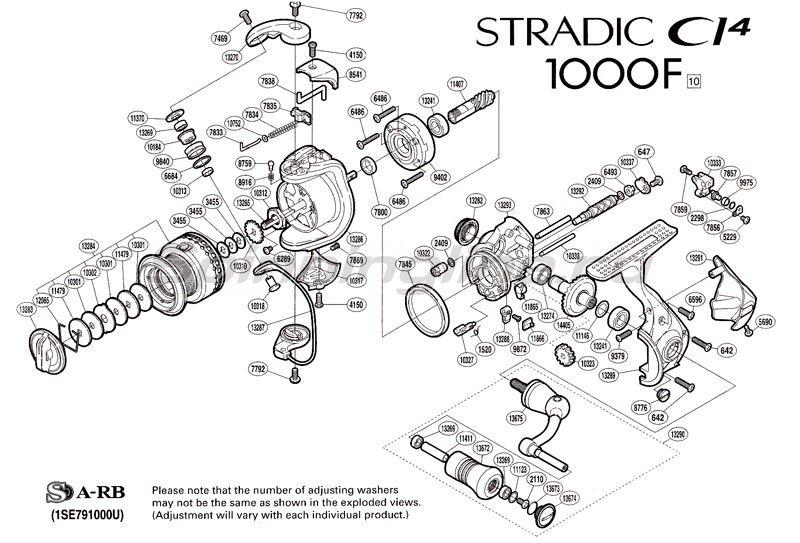 Катушка Stradic CI4 1000 F -  2