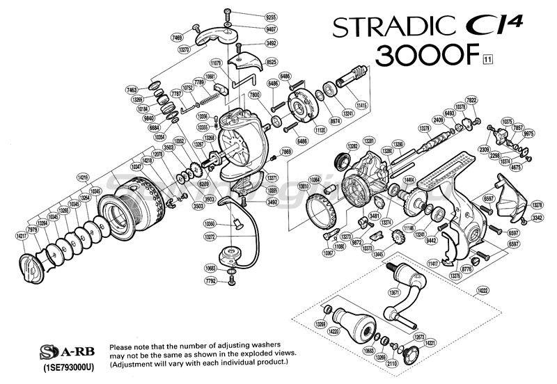 Shimano - Катушка Stradic CI4 3000 F - фотография 2