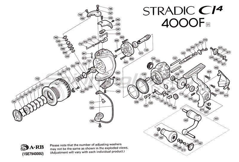 Катушка Stradic CI4 4000 F -  2