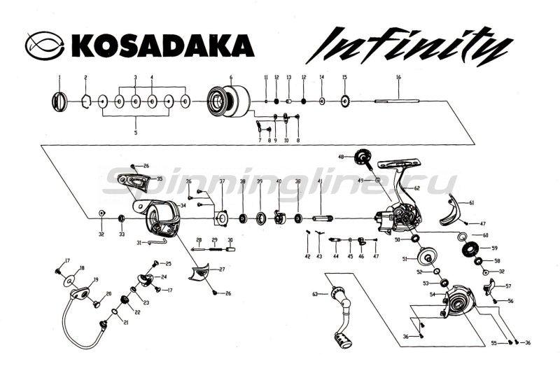 Kosadaka - Катушка Infinity 1500 - фотография 9