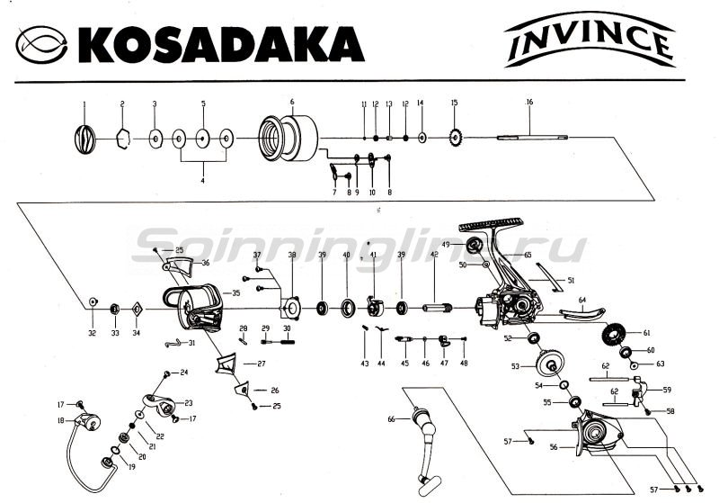 Катушка Invince 1000 -  9