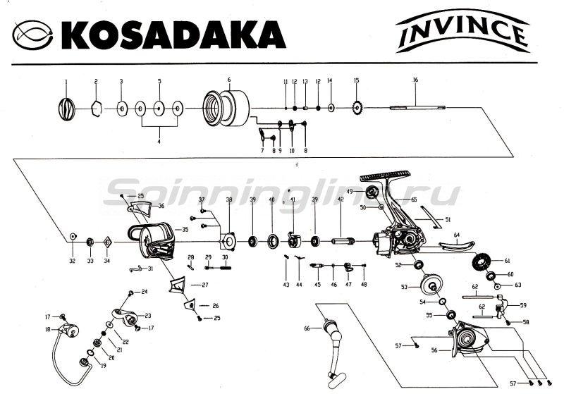 Kosadaka - Катушка Invince 2000 - фотография 9