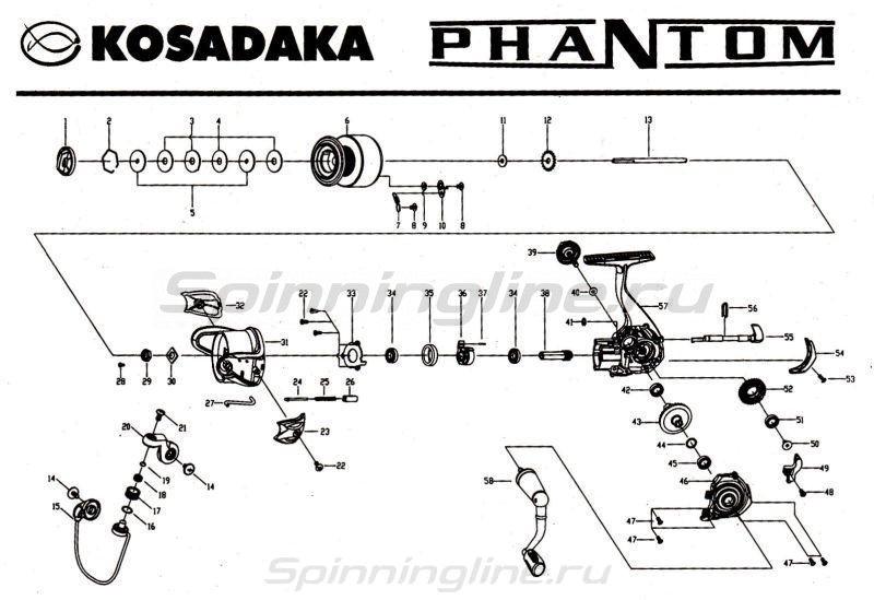 Катушка Kosadaka Phantom 1500 FX -  9